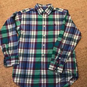Polo boys cotton flannel button down